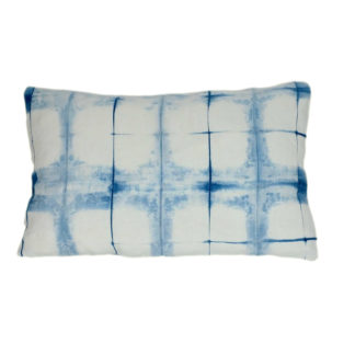 Mei Line natural dyes, Indigo shibori cushion