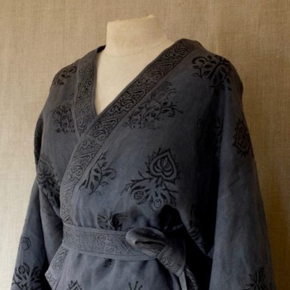 William Morris Yukata Grey