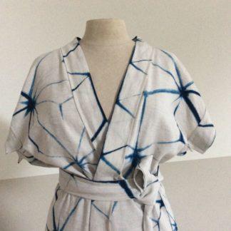 Bikini cover up, Mei Line, indigo shibori