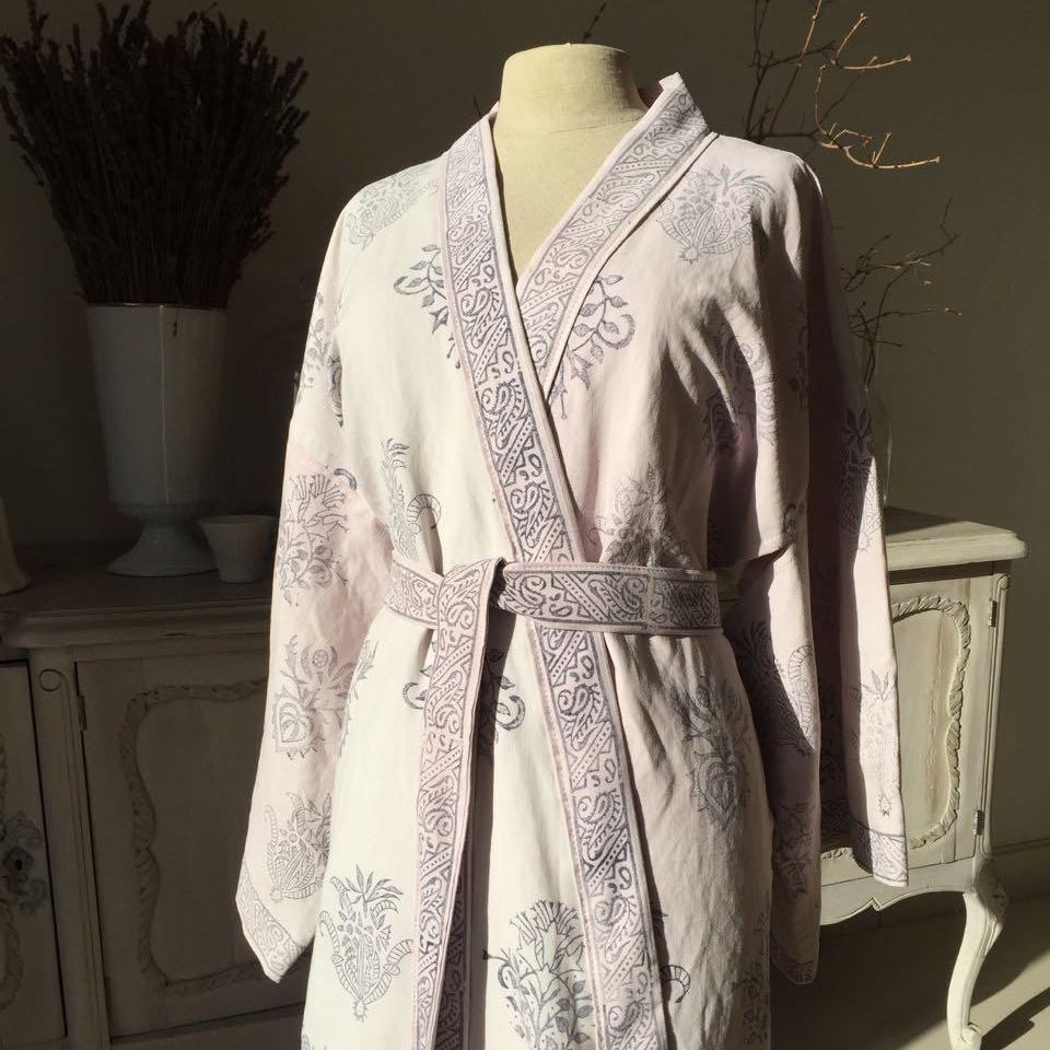 Cochineal dyed bathrobe