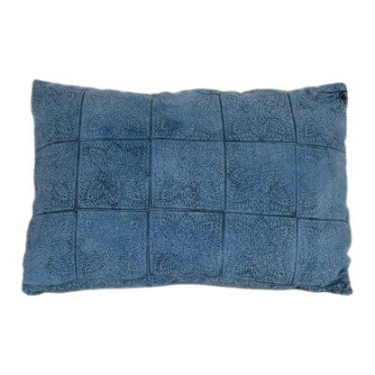 Mei Line natural dyes, Indigo block printed cushion