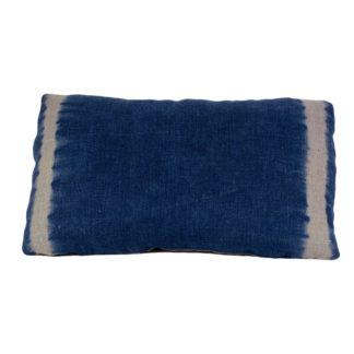 Mei Line, natural dyes, indigo shibori cushion