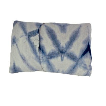 Mei Line, natural dyes, indigo shibori cushion