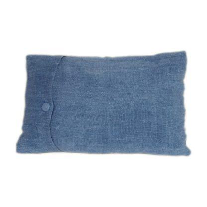 Mei Line natural dyes, Indigo shibori cushion