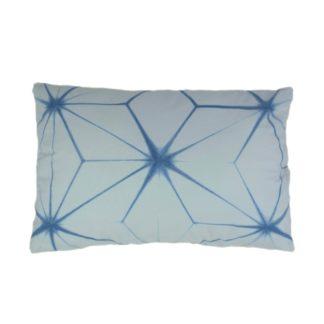 Mei Line, indigo shibori cushion