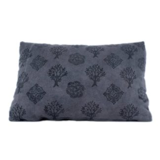 Mei Line natural dye, block printed, logwood dyed cushion