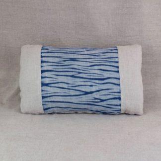 Indigo arashi Shibori cushion