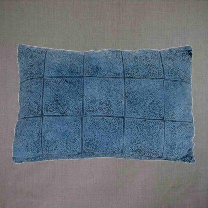 Mei Line cushion Indigo block print