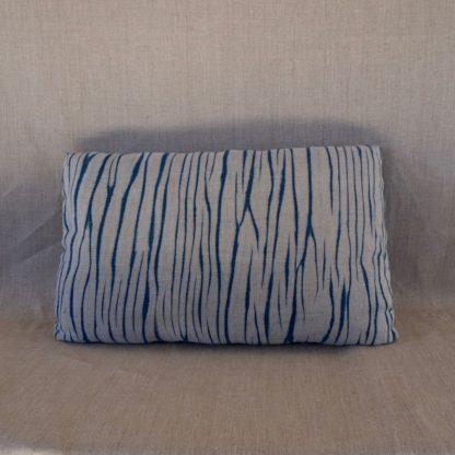Arashi shibori indigo cushion cover