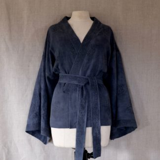 Cardigan - natural dye on linen