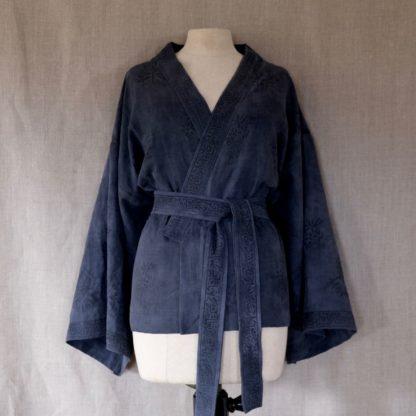Cardigan - natural dye on linen